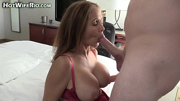 Hot Wife Rio fucking a cock and eating a big load of cum
