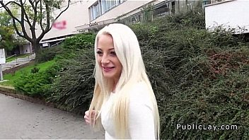 Blonde student fucking in public
