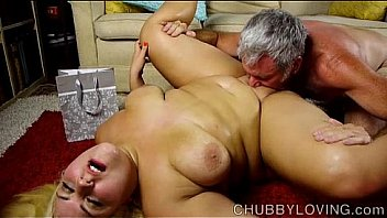 Beautiful big belly blonde BBW gets blasted with cum