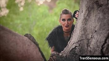 Transgender RedRidingHood drills Wolf