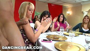 DANCINGBEAR - Big Dick Slinging Dudes Feeding Sausage To Random Women At A Gathering