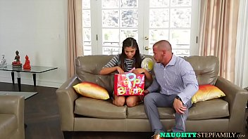Stepdaughter pounded for her birthday