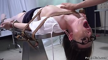 Unstable cop strapped big tits Milf police psychologist and banged her thorat