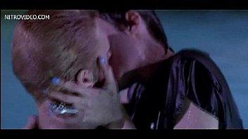 Celeb Angelina Jolie side boob and sex scene