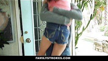 Family Stokes - Two Dicks For Slutty Teen (Lilly Jordan)