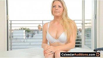 Calendar Audition With Hot Blonde Amateur