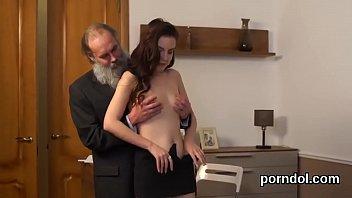 Senior teacher pleasures and plows undressed exceptional kitten