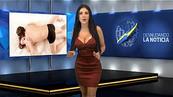 Nude woman News anchor