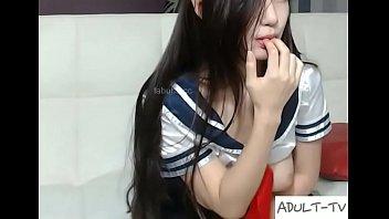 Thin girl Korean on sofa