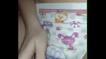 Diaper girl masturbation