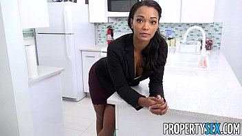 Tattooed ebony beauty Harley Dean straightens out a tenants complaint, still no hot water.