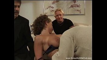 Anal Threesome For Slut Swinger Wife