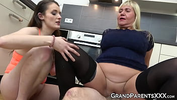 Mature couple teaches babe how to fuck