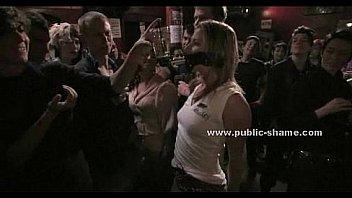 Blonde gets humiliated in public