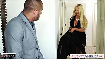 Busty blonde Nikki Benz take cock