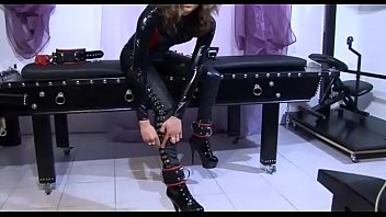 Hot slave tied up and filmed by her master