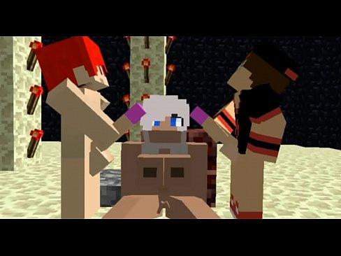 Minecraft porno group sex animated