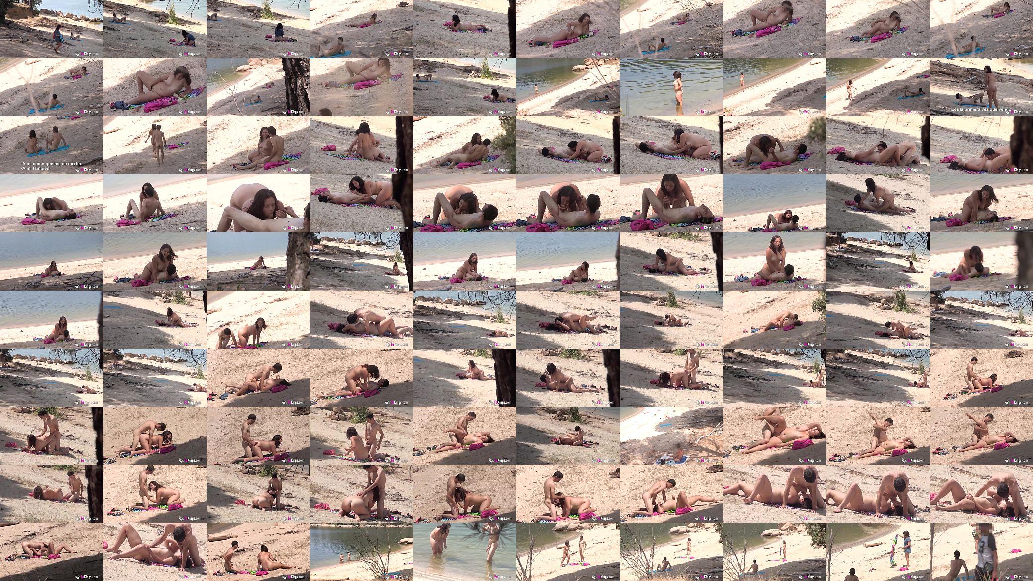 Araceli Playa Porno Iputas voyeur and nudism session with alba and a stranger - xnxx