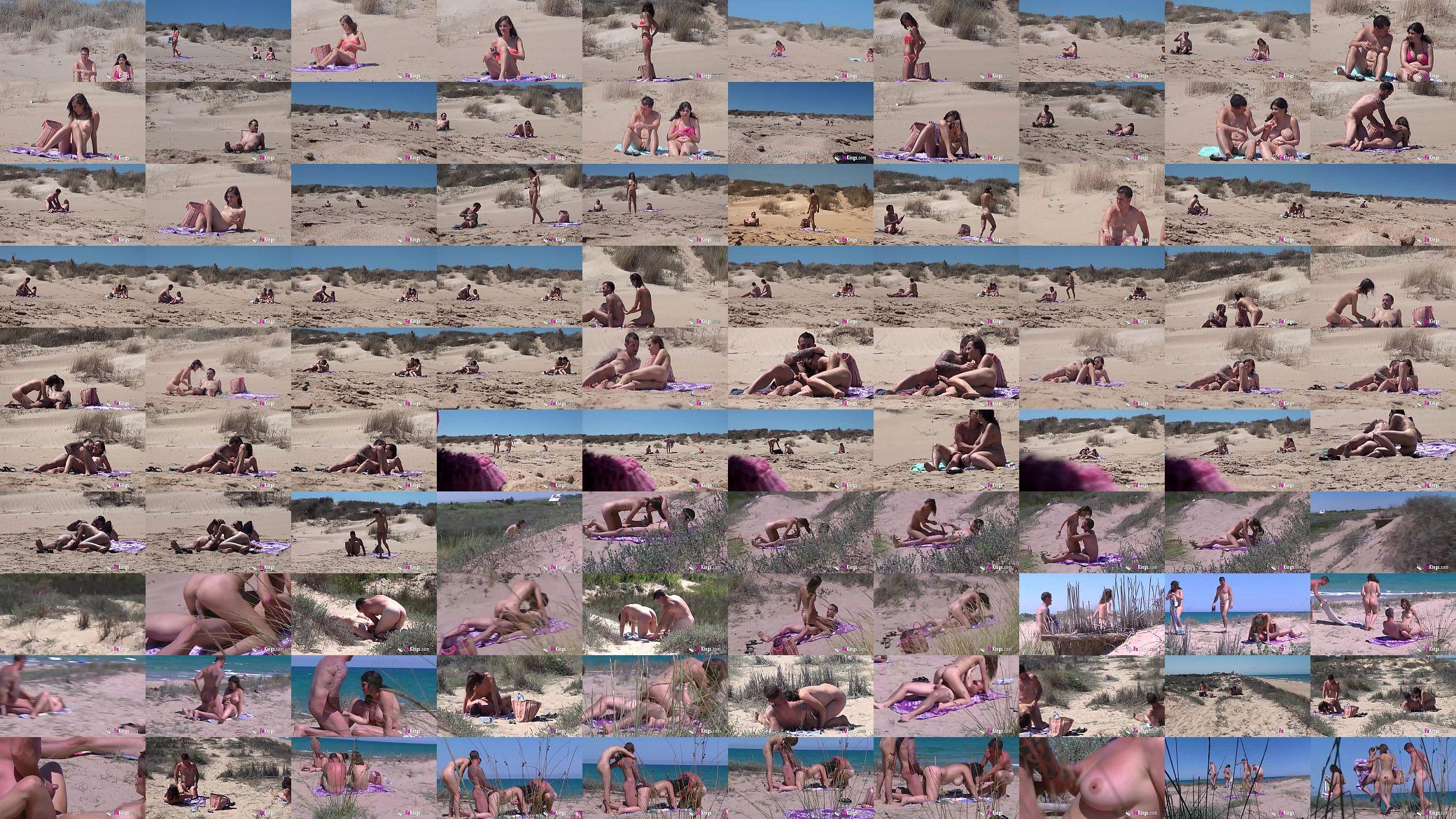 Araceli Playa Porno Iputas ainara has some fun in the beach with another amateur couple