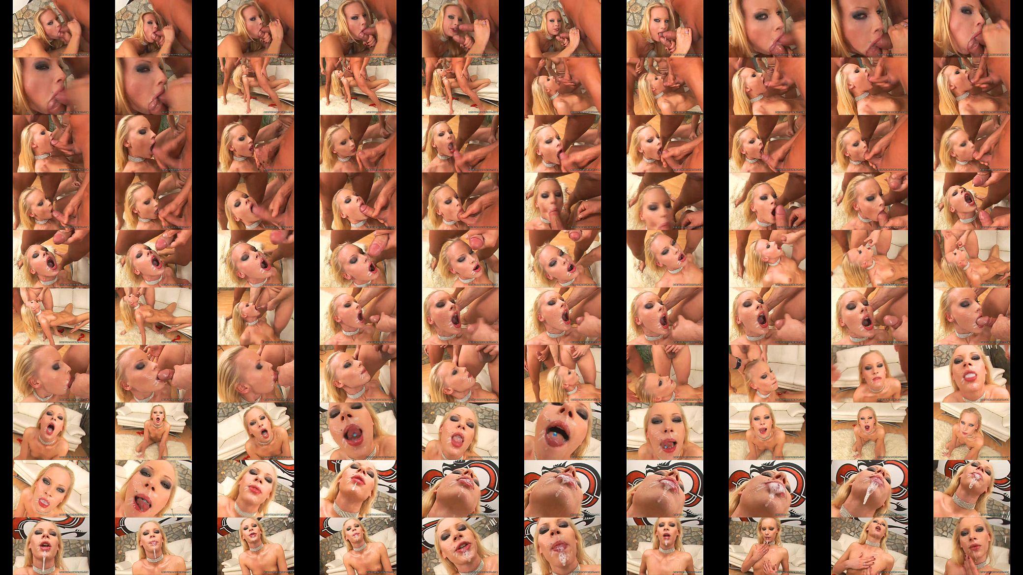 4Tube En Español sexy babe gitta blond sprays a triple jizz on her mouth