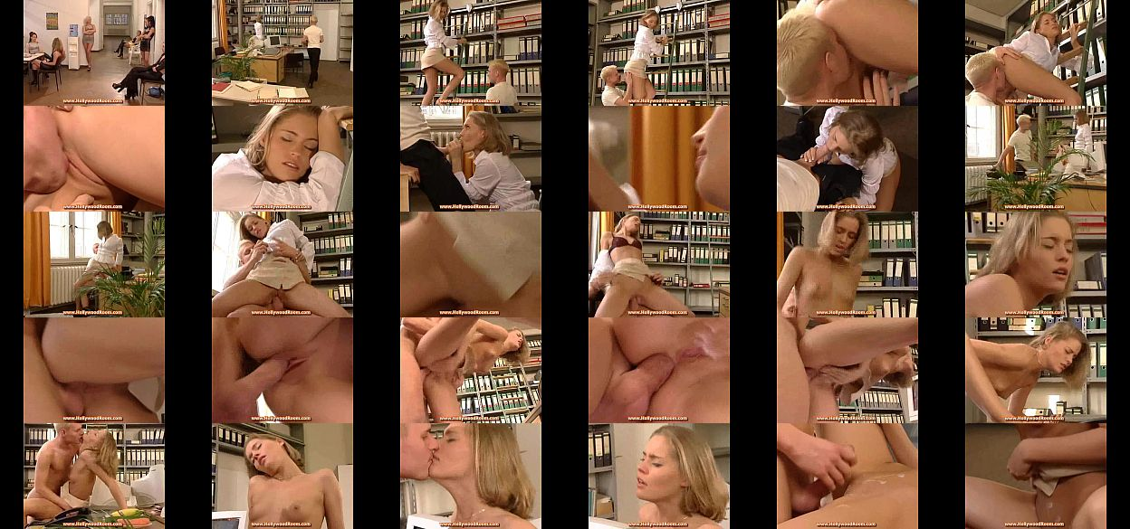 Nude anal sex in the library