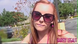 Ginger teen Dani Jensen doused in big cock cumshot