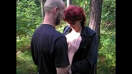 Red Head mature fucked outdoor