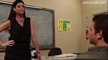 Hot teacher fucks student