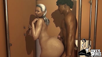 Big booty Granny banged in her house