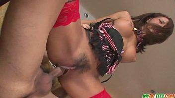Teen Ema Kisaki gives a japanese blow job and creampied