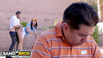 Bangbros Rachel Starr Fucks Her Golf Instructor While Her Cuck Husband Reads The Paper