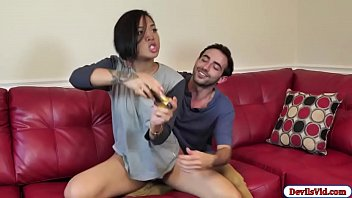 Cute Asian fucks bf and then squirts
