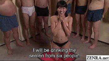 JAV cum drinking gokkun blowjob party Misaki Oishi Subtitled 3 min