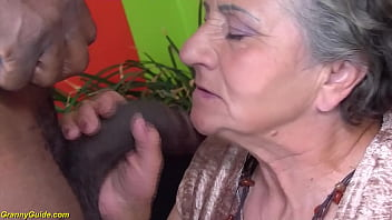 extreme hairy 84 years old mom gets rough big black cock fucked