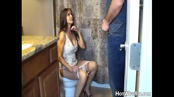 Hotwiferio mom walks around son without panties
