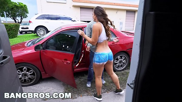 Are not Naked girl painting a car have