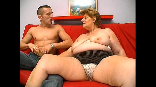 Mature fat granny hungry skin head young man sex-27015