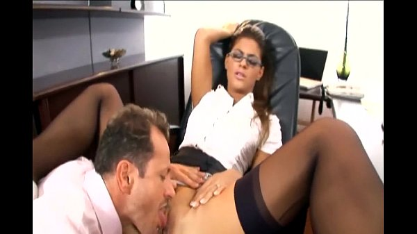 Nerdy secretary fucked in stocking and a garter-382