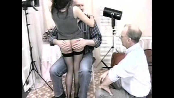 Man art girl old spanking