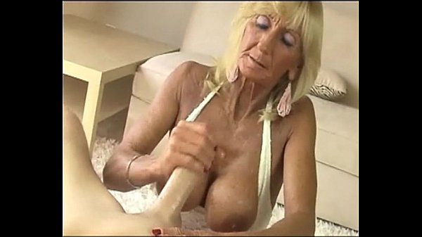 Granny sucks monster cock
