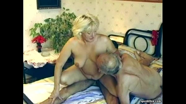 Young Blonde Old Black Man