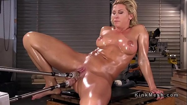 Mature oiled tits and ass dildo Blonde Mature Lady Solo Gets Big Dildo On Fucking Machine In The Ass Xnxx Com