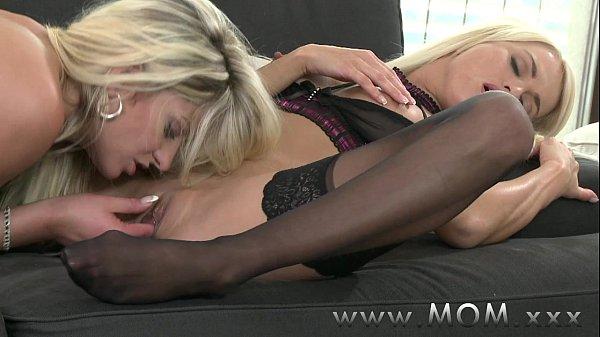 lesbians in bed having sex