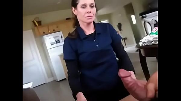 Son creampie surprise mom porn clip