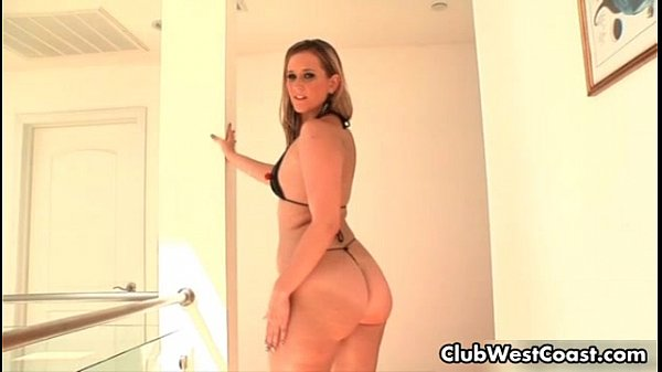 Nude girls bent over thongs