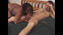 White guy fucks black whore from the behind Thumbnail