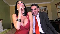 Squirting: Veronica Avluv cums in the mouth of Andrea Diprè's Thumb