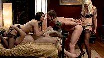 Femdom mistresses humiliating a male slave