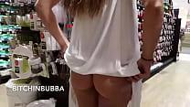 Puta casada se exibindo no supermercado