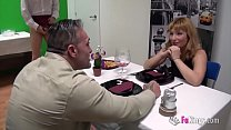 Big boobed blonde Lucia gets fucked by an older...